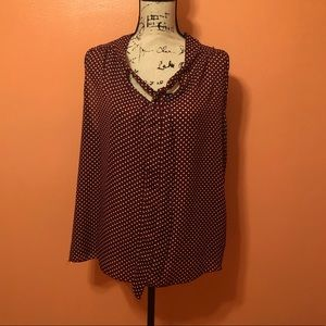 Jon & Anna sleeveless polka dot top. Size 1X